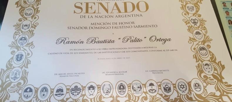 Palito Ortega – Mención Del Senado De La Nación.